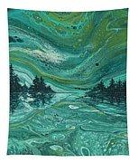 Aurora Borealis Treescape Tapestry by Darice Machel McGuire
