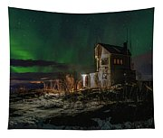 Aurora Over The Radio Station Tapestry