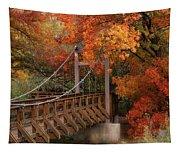 Autumn Across The Bridge  Tapestry