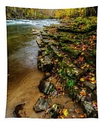 Autumn At Cherry Falls Elk River Tapestry