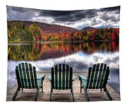 Autumn At The Lake Tapestry