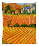 Autumn In French Vineyards Tapestry