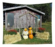 Autumn Wedding In The Pumpkin Patch Tapestry