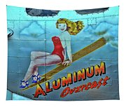 B - 17 Aluminum Overcast Pin-up Tapestry