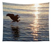 Bald Eagle At Sunset Tapestry