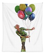 Balloons And Happy Guy Tapestry