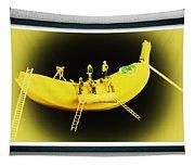 Banana Boat Mining Company Black Frame Tapestry