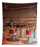Barber - Eddie's Barbershop Tapestry by Mike Savad