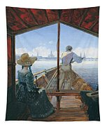 Barge Trip On The Elbe Near Dresden, Morning On The Elbe, 1827 Tapestry