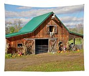 Barn In Autumn Tapestry