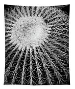 Barrel Cactus Black And White Tapestry