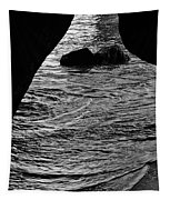 Beach Cave Monochrome Tapestry