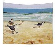 Beach Stroll Tapestry