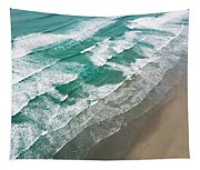 Beach Waves From Above Tapestry