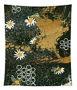 Bees And Daisys Tapestry by Darice Machel McGuire