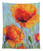Bees And Poppies Tapestry