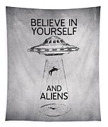 Believe In Yourself Quote Tapestry by Zapista Zapista