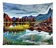 Belluno Mountains Tapestry