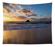 Bermuda Beach Sunrise Tapestry