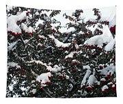 Berries And Snow Tapestry