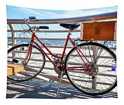 Bicycle At The Beach Tapestry