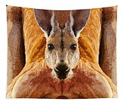 Big Boy Red Kangaroo   Tapestry
