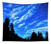 Big Sky And Trees Tapestry