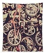 Bike Mountain Tapestry
