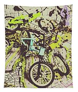 Bikes And City Routes Tapestry