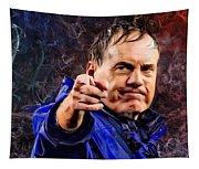 Bill Stephen Belichick Portrait Tapestry