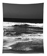 Black And White Beach 7- Art By Linda Woods Tapestry