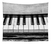 Black And White Piano Tapestry