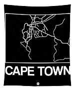 Black Map Of Cape Town Tapestry