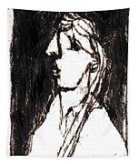 Black Side Portrait Tapestry
