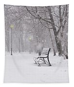 Blizzard In The Park Tapestry