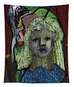 Blonde Girl Tapestry