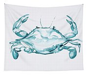 Blue Crab Turcoise Tapestry