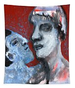 Blue Face Tapestry