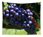 Blue Grape Bunches 5 Tapestry