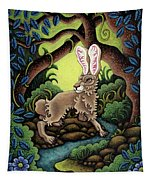 Blue Hare Lagoon Tapestry by Amy E Fraser