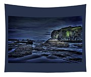 Blue Hour At Bandon Beach Tapestry