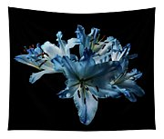 Blue Lilies Tapestry
