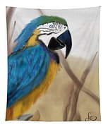 Blue Parrot Tapestry