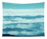 Blue Ridge Mountains Layers Upon Layers In Fog Tapestry