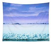 Blue Sky, White Field Tapestry