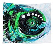 Blue Spewed Turtle Fish Tapestry