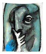 Blue Thinker Tapestry