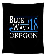 Blue Wave Oregon Vote Democrat 2018 Tapestry