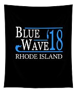 Blue Wave Rhode Island Vote Democrat 2018 Tapestry