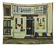 Blues Town Music Store Tapestry